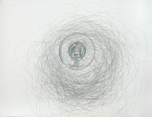 Insekten in der Kunst; Fliege, Stubenfliege, zeitgenössische Zeichnung; Projektion
