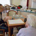 Interview im Pflegeheim St.Elisabeth, Interview in the St. Elisabeth care home
