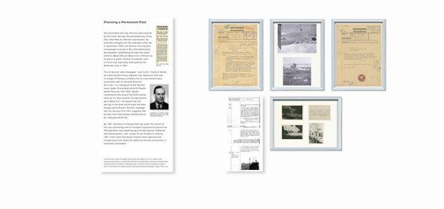 Überblick: Textpanel 3 und zugehörige Ausstellungsstücke