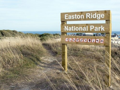 Easton Ridge National Park, Eingang, Schild
